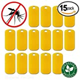 Mosquito Repellent Bracelet Refills - 15 Pack - 100% Natural Insect Repeller, DEET Free, No Spray Pest Control Safe For Kids and Adults. Perfect for Outdoor. Waterproof