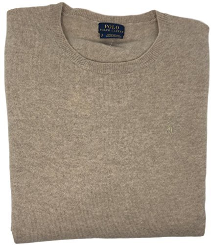 Polo Ralph Lauren Men's Crewneck Wool Sweater (XXL, Oatmeal)