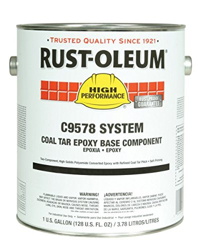 Industrial Epoxy Paint - Rust-Oleum High Performance C9578 Coal Tar Epoxy, 1.125-Gallon Kit with C9502504 Activator