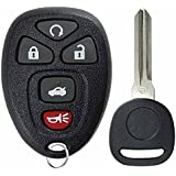 KeylessOption Keyless Entry Remote Control Car Key Fob Replacement for 22733524 with Key
