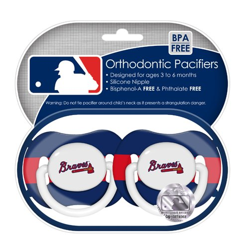MLB Atlanta Braves Pacifiers 2 Pack