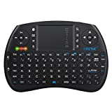 ESYNIC Backlit Wireless Keyboard 2.4GHz Mini Keyboard LED Backlight Multi-media Handheld Keyboard with Touchpad Mouse Combo for Google Smart TV Android TV Box Raspberry Pi 3 PS3