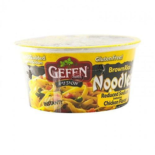Gefen Gluten Free Brown Rice Noodle Bowl, Reduced Sodium, Chicken, 2.25 Oz (12 Pack)