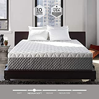 Sleep Innovations Alden 14-inch Memory Foam Mattress, Bed in a Box, Tufted Cover, Made in The USA, 10-Year Warranty - Queen Size (B00EZ5TCFU) | Amazon Products
