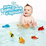 WISHKEY Chu Chu Bath Toys for Baby Aquatic Fish Animals Set of 6 Non Toxic BPA Free Toy ( Multicolor )
