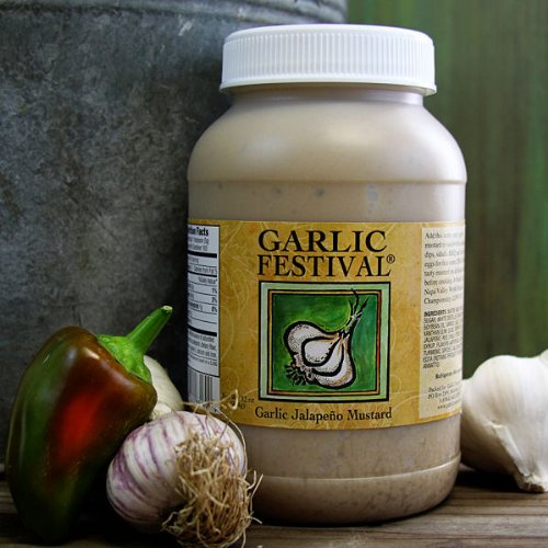 Garlic Jalapeno Mustard Quart - Mustard Garlic