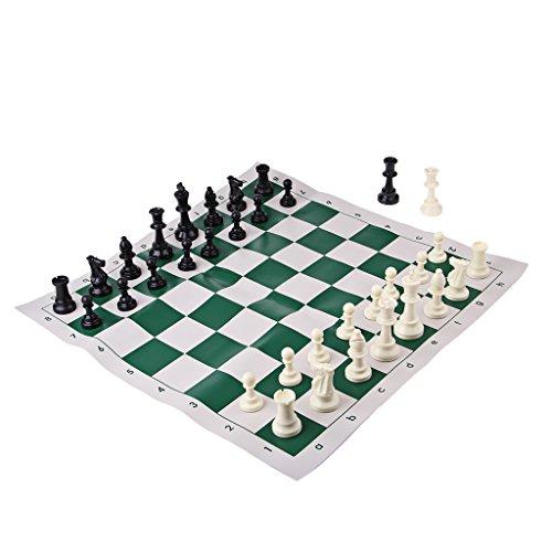 Kesoto 国際チェスゲーム チェスセット PUレザー チェス盤 プラスチック チェスマン