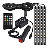 48LED Car Interior Strip Lights - RGB Multicolor Music Foot Decorative Atmosphere Lamp Underdash Lighting Kit with Sound Active F