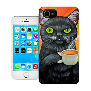 Unique Phone Case Personal animal head pattern CAT AND COFFEE Hard Cover for 5.5 inches iphone 6 plus cases-buythecase