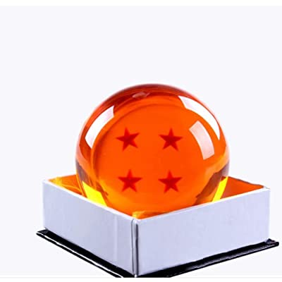Country Toys Collectible Medium Crystal Glass Stars Balls Dragon Ball(27,35,43,57,76MM in Diameter) (D-7.6-7): Toys & Games
