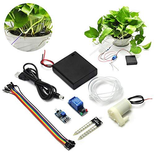 Gikfun Soil Moisture Sensor Kit Automatic Watering System Manager with Mini Water Pump for Arduino DIY Kit EK1915