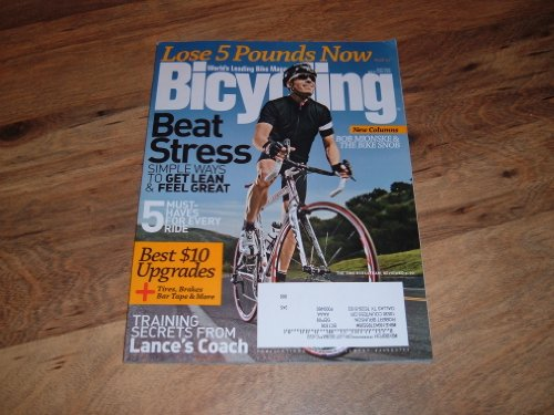 Bicycling magazine, May 2009-Patrick Watson on cover. Lose 5 Pounds Now.