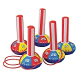 happy deals Inflatable Ring Toss Carnival Game Set - Fun Indoor or Outdoor Game for Kids & Adults -