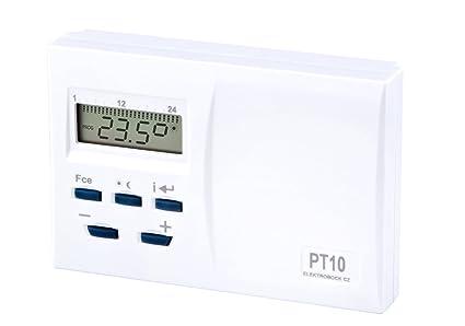 Elektrobock PT10 - Termostato de ambiente digital,