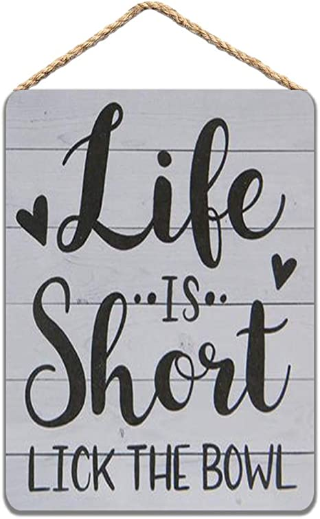 20x30 Life is Short 8x12 Lick the Bowl 5x7 10x15 15x22 24x36 Engraved Wood Sign