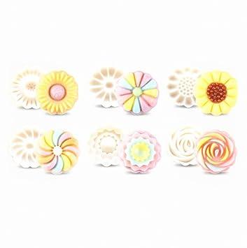 Molde para tartas de luna con 6 sellos - Prensa para decoración de otoño medio 50 g, color blanco Chrysanthemum: Amazon.es: Hogar