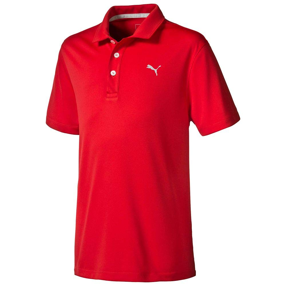Puma Golf 2017 Boy's Pounce Polo, High Risk Red, Small