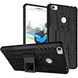 Chevron Military Grade Armor Kick Stand Back Cover Case For Xiaomi Mi Max / Mi Max Prime (Black)