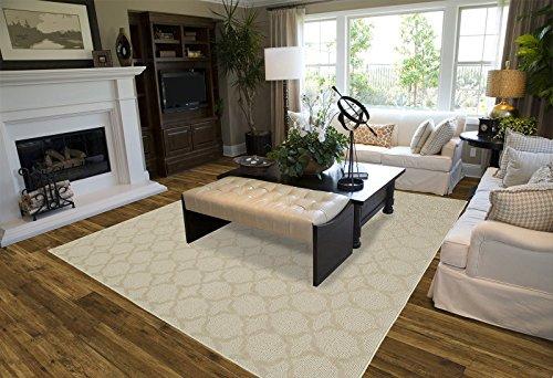 garland rug sparta area rug, 5-feet by 7-feet, tan