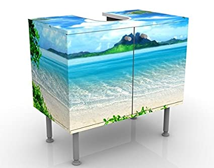 Apalis Design Vanity Dream of Holidays 60 x 55 x 35 cm, piccolo, largo 60 cm, regolabile, lavandino, lavabo, rubinetto per lavabo da bagno, armadio, unità di base, bagno, narrow, Flat 53657