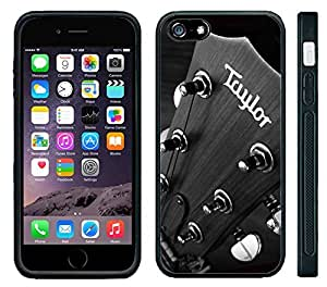Apple iPhone 6 Black Rubber Silicone Case - Taylor Guitars Cool Close-up Picture Guitar Players