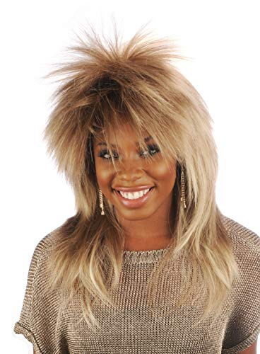 Tina Turner Wig Character Theatrical Costume Wig 1980's ()