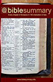 Bible Summary: Every Chapter in 140 Characters or Less