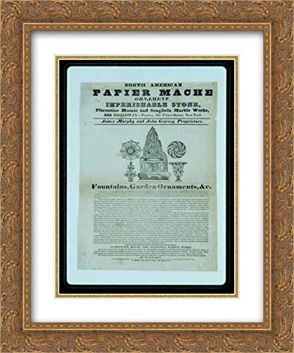 - James Murphy and John Garvey - 28x36 Gold Ornate Frame and Double Matted Museum Art Print - North American Papier Mache Ornament Imperishable Stone, Florentine Mosaic and Scagliola Marble Works