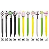 #1: FANMURAN 1PC KPOP EXO BTS Bangtan Boys GOT7 Pen Silicone Acrylic Head Office Pen Fans Gift 07(EXO Colorful)
