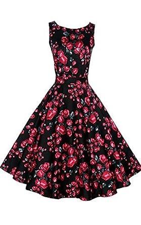 Amazon.com: ACEVOG Vintage 1950&39s Floral Spring Garden Party ...