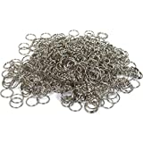 500 Split Rings Key Chain Connectors Steel Parts 24mm
