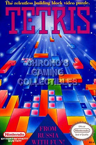 "Price comparison product image CGC Huge Poster - Tetris Orignal Nintendo NES Box Art - NES106 (24"" X 36"")"