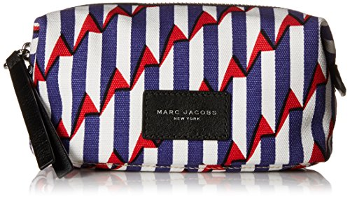 Marc Jacobs Arrow Head Printed Biker Cosmetics Landscape Pouch Handba, Paris Blue Kiss Multi, One Size by Marc Jacobs