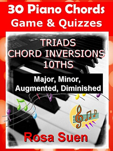 30 Piano Chords Games Puzzles Triads Chord Inversions 10ths