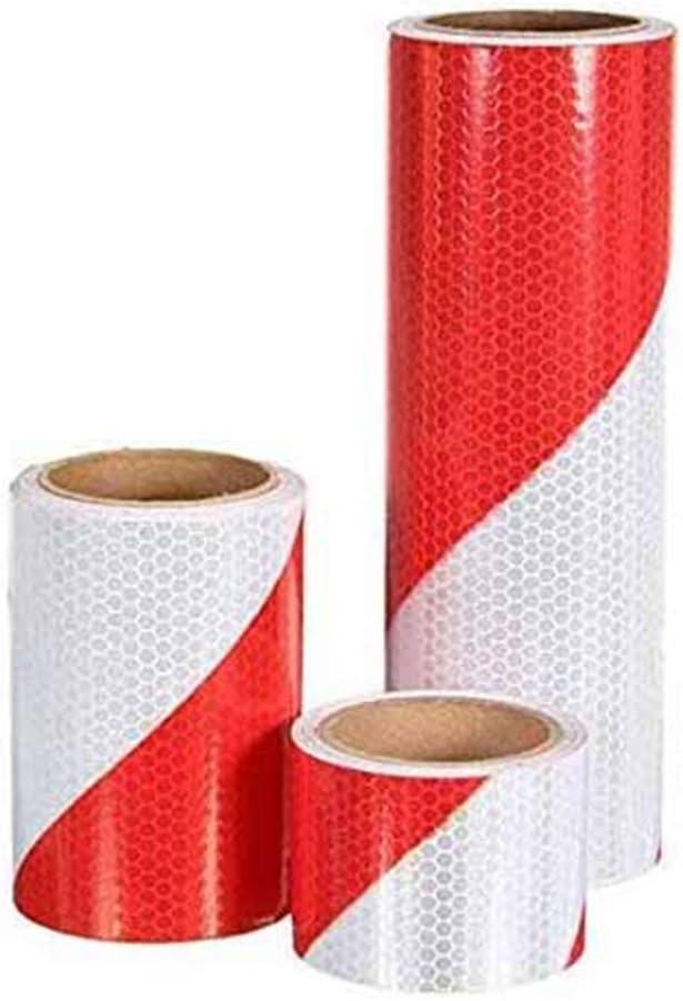 10cm Alamor 5Cm//10Cm//20Cm Traffic Warning Safety Night Reflective Strips Red White Bias Tape Sticker