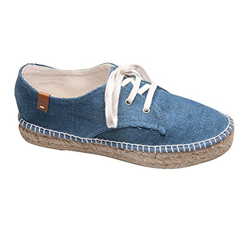 Women's Canvas Sneakers – Colorful Espadrille Shoes – Navy – Size 7