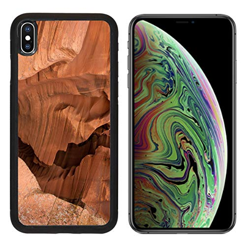 Liili Premium Apple iPhone Xs MAX Aluminum Backplate Bumper Snap Case Image ID: 24597523 Antelope Canyon red Sandstone Wall Abstract Pattern Page Arizona