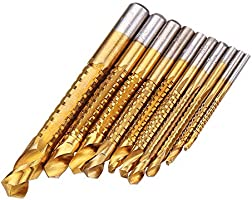 Pl/áStico Brocas Helicoidales 120PCS Bst4UDirect Juego M/éTrico de Brocas de Micro Titanio 1.5mm-10mm para Madera