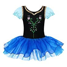 DAXIANG Baby Girl Tulip Flowers Blue Ballet Dress with Tutu and Briefs