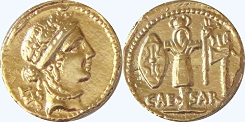 Golden Artifacts Julius Caesar and Venus Most Famous Roman Coin, Republic to Empire, Unique Gift, Stocking Stuffer (29-G) (Fake Roman Coins)