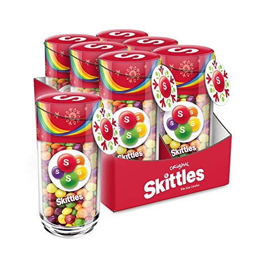 Candy Gift Jar - SKITTLES Original Fruity Candy Christmas Gifts 13-Ounce Jar (Pack of 6)