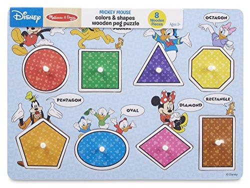 Melissa & Doug Disney Wooden Peg Puzzles Set: Letters