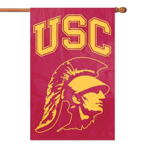 (Brand New USC Trojans NCAA Applique Banner Flag)
