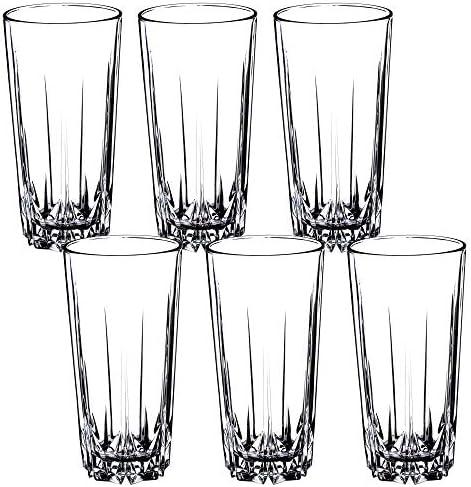 [Gesponsert]KADAX Trinkgläser aus hochwertigem Glas, 6er Set, Wassergläser, dickwandige Saftgläser, geriffelte Gläser für Wasser, Drink, Saft, Party, Cocktailgläser, Getränkegläser (hoch, 330ml)