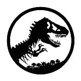 Vinyl Decal Sticker - Jurassic Park Logo for wall, vehicle, computer, home decor (22 inch wide, Matte Black)