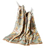 HOU FEI NIAO Scarf - Silk Scarf Womens High-end Scarf Satin Cape Long Scarf Vintage Flowers Wild (170 50cm)