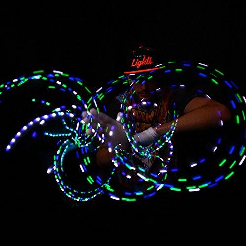 Emazing Lights Electro LED Gloves, 7 Light Flashing Modes - #1 Leader in Gloving & Light Shows (Black Gloves)