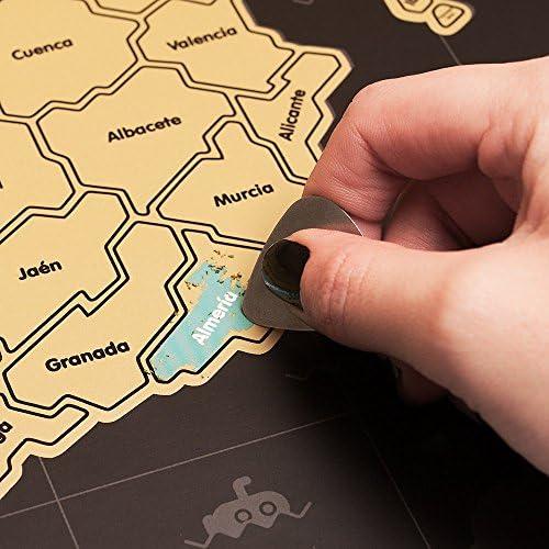 Mapa rascable España (Negro): Amazon.es: Hogar