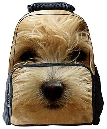 yeah67886Multifunktionale tragbare Umweltschutz 3D Filz Tiere drucken Rucksack–Hunde