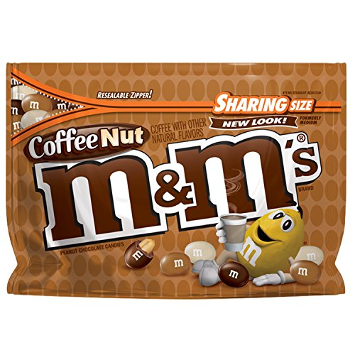 M&M'S Coffee Nut Peanut Chocolate Candy Sharing Size 9.6-Ounce Bags (Pack of -